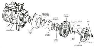 Exploded Diagram of AC Compressor