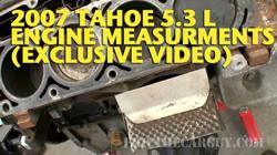 Tahoe Engine Measurmentssm