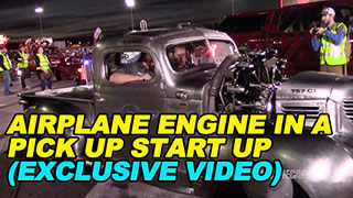 Airplane Engine in a Pick Up Truck