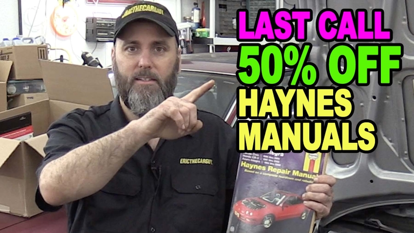 Last Call 50 off Haynes Manuals