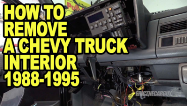 How To Remove a Chevy Truck Interior 1988 1995 ETCGDadsTruck 400