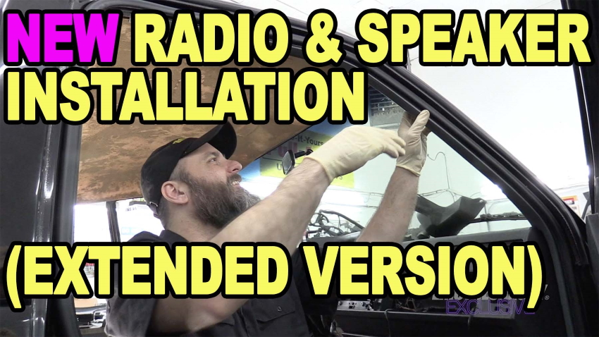 New Radio Speaker Intallation Extended Version
