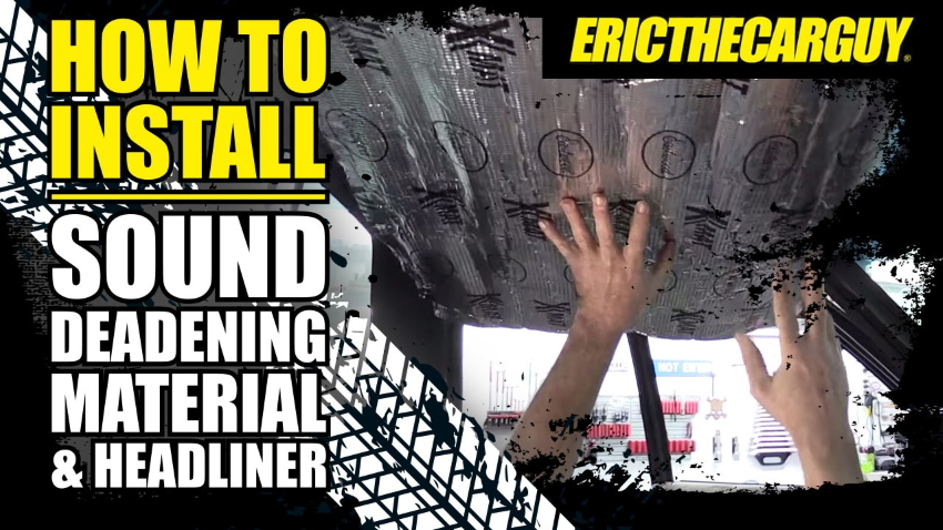How to Install Sound Deadening Material Headliner